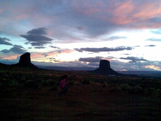 Hampton Inn Kayenta: soleil couchant MV