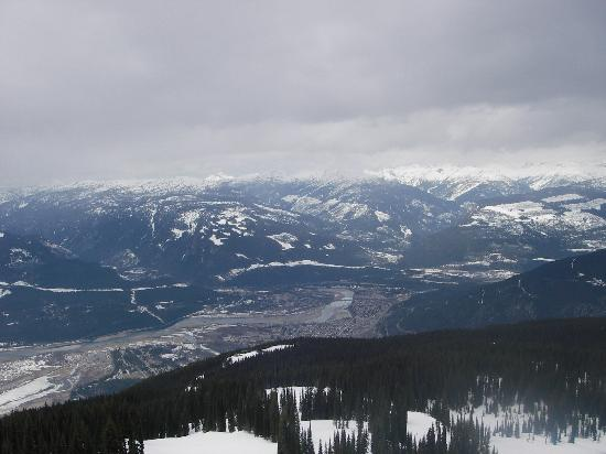 Super 8 Revelstoke BC: From Revelstoke Mountains Resort looking down at the town of Revelstoke