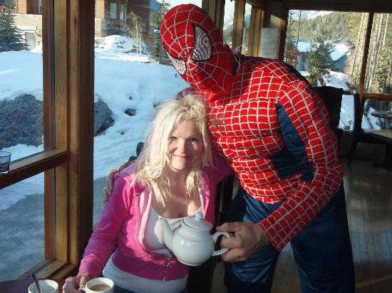 Earl Grey Lodge: Phil as Spiderman at Breakfast