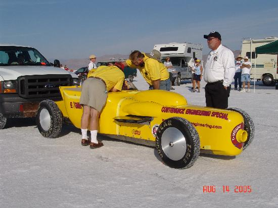 bonneville salt flats there are many types of cars at bonneville