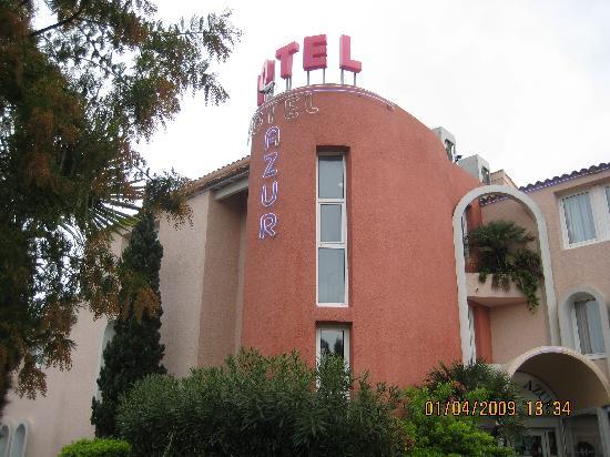 Hotel Azur : entrée de l'hotel