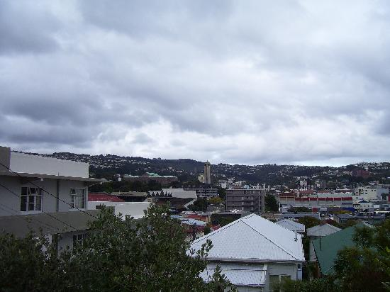 Rowena's Lodge : view to basin reserve (cricket)