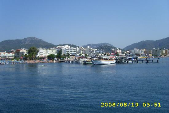 Sidero Hotel: view of marmaris from boat