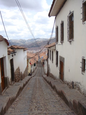 Cusco, Perù: Street at San Blas