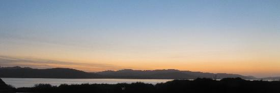The Harbour Inn: Sunset view of Lough Swilly from Room