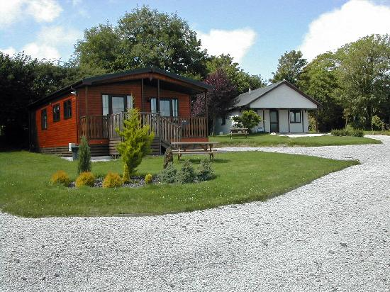 St. Tinney Farm Holidays: Three Bedroom Pine Lodge and Two Bedroom Country Lodge in the valley