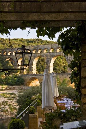 Le Vieux Moulin : vue de la terrasse