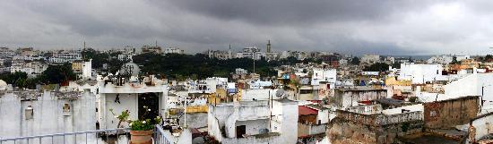 La Tangerina: roof top view of Tangier