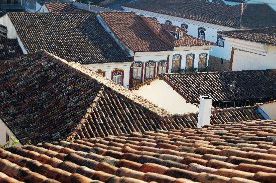 Pouso do Chico Rei: View from our room - Roofs of Ouro Preto