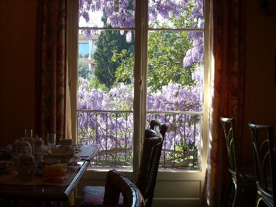 Mas Djoliba Hotel: View from window at breakfast