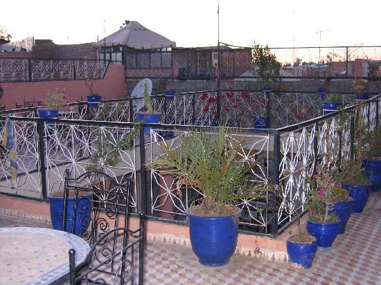 Hotel Imouzzer: terrasse