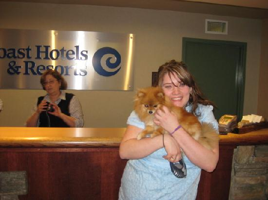 Coast Fraser Tower: misty with staff member and loving it