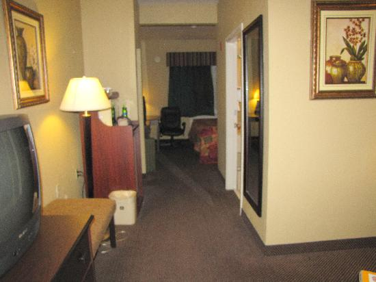 Best Western Plus Intercontinental Airport Inn : Entering the room (sofa-bed to the right)