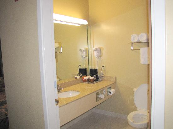 Best Western Plus Intercontinental Airport Inn : The bathroom (shower-tub to the right of the toilet)