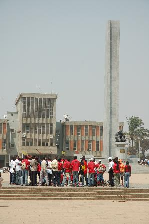 Huambo, Angola: The statue of Agostino Neto on Hero's day