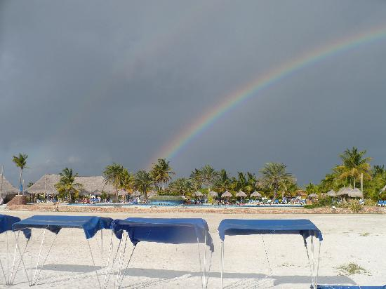 Coche Island, Venezuela: We even saw a double rainbow after a brief rainfal..!
