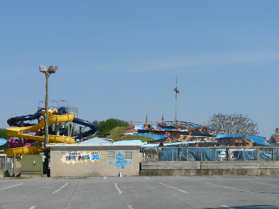White Water Mountain waterslides at Midway Speedway Park