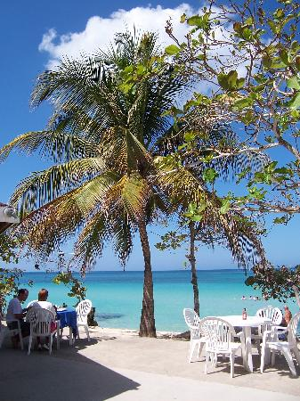 Shields Negril Villas: meals are served while watching the beautiful ocean