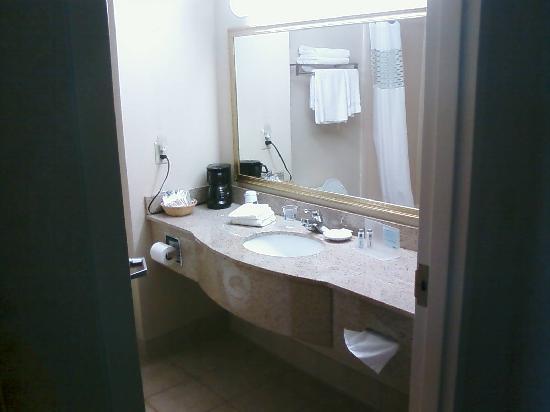 Hampton Inn Suites Springboro: Bathroom view