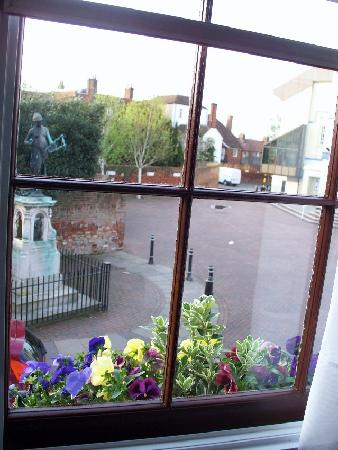 Pilgrims Hotel: view from a window in the front