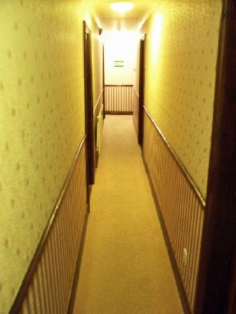 Pilgrims Hotel: narrow hallway... definitely not handicapped friendly