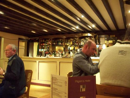 Pilgrims Hotel: lively dining & bar area...