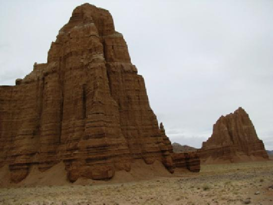 Cathedral Valley: Temple of the Moon and Sun