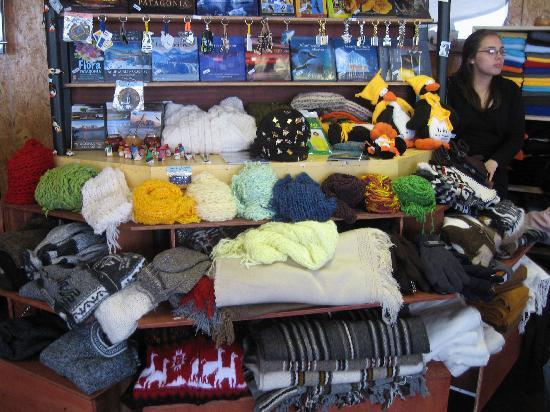 Punta Arenas, Chile: Alpaca-Pullis, alle Farben!