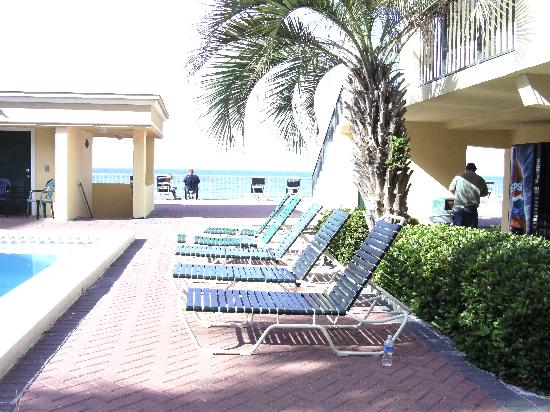 Flamingo Motel: Pool area