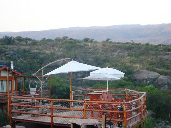 Cabanas Casas del Arroyo: Mirador con espectacular vista y lugar obligado para compartir con amigos