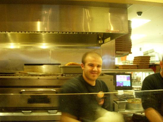 Mary's Pizza Shack: Friendly pizza maker!