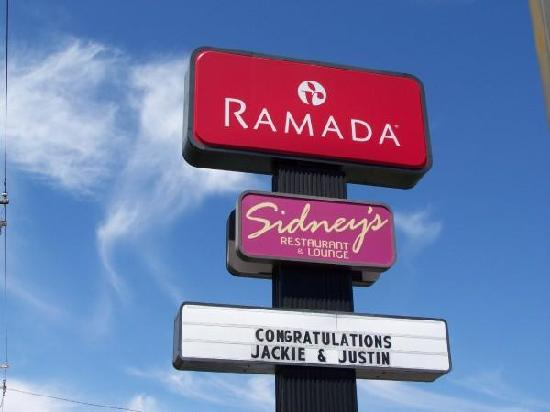 Ramada Clarks Summit Near Scranton: The sign outside