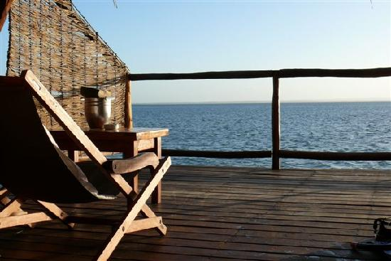 Flamingo Bay Water Lodge: Amazing views from the chalet deck