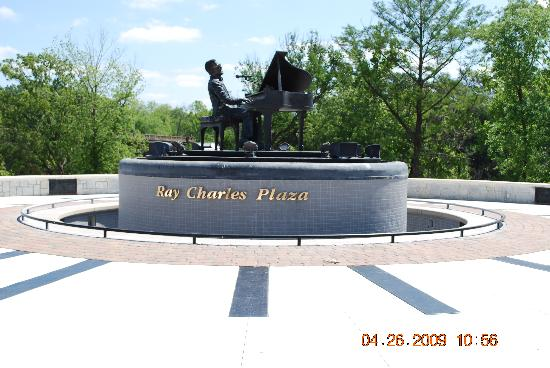 Albany, Georgien: Ray Charles Bronze Sculpture