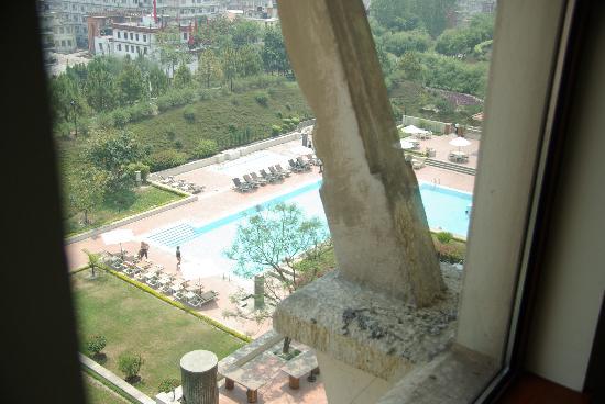 Hyatt Regency Kathmandu: Vie of Pool from our Room