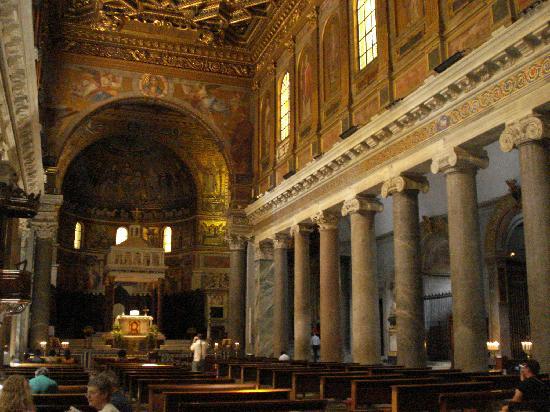Roman columns in S. Maria in Trastevere