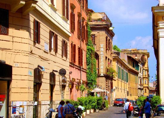 Trastevere street scene