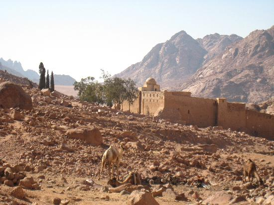 St. Catherine's Monastery Guesthouse: As seen from the trail