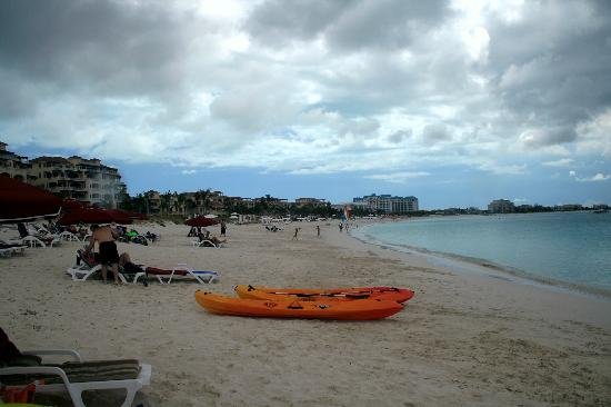 Grace Bay : Cloudy Day with Orange Boat