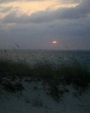 Grace Bay: Sunset with Dune Grass