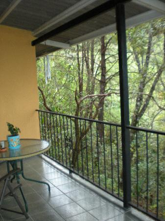Tinamou Cottages: our balcony