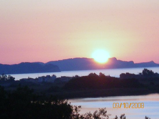 Corfou, Grèce : a beautiful sunset