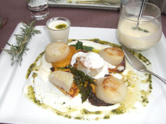 Scallop entree picture of le jardin antibes tripadvisor for Restaurant antibes le jardin