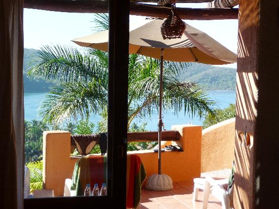 Hotel Cinco Sentidos: View from Bed