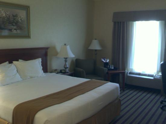 Holiday Inn Express Bloomsburg: big bed
