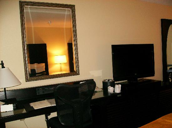 Renaissance Fort Lauderdale Cruise Port Hotel: Flat screen TV and desk area