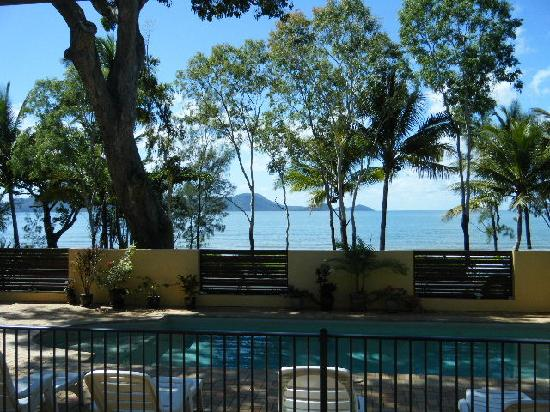 Taihoa Holiday Units: View from our unit with Dunk Island in the BG