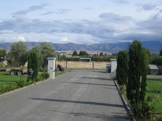 Hillsfield House Bed and Breakfast Marlborough: View down the driveway