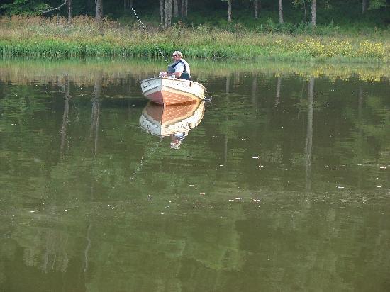 Fisherman on pond entering Burkes Garden, Va. - Picture of Burkes ...