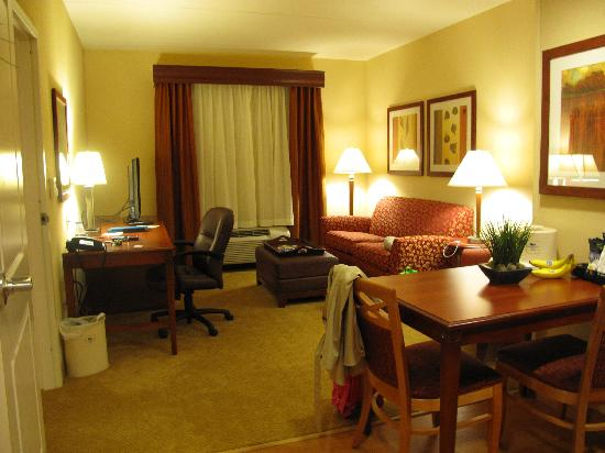 Homewood Suites Madison West: living area